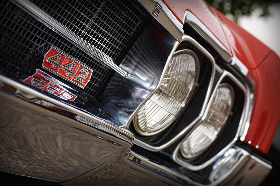 Red Photograph - Red 1966 Olds 442  by Gordon Dean II