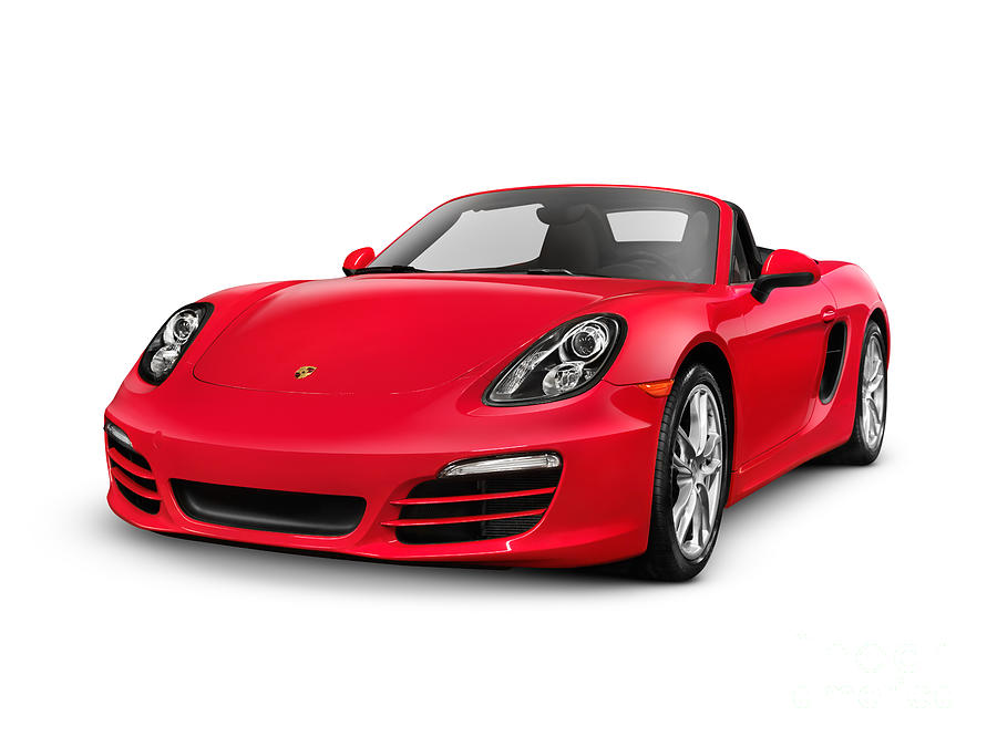 Porsche Photograph   Red 2014 Porsche Boxster S Convertible Luxury Car By  Oleksiy Maksymenko