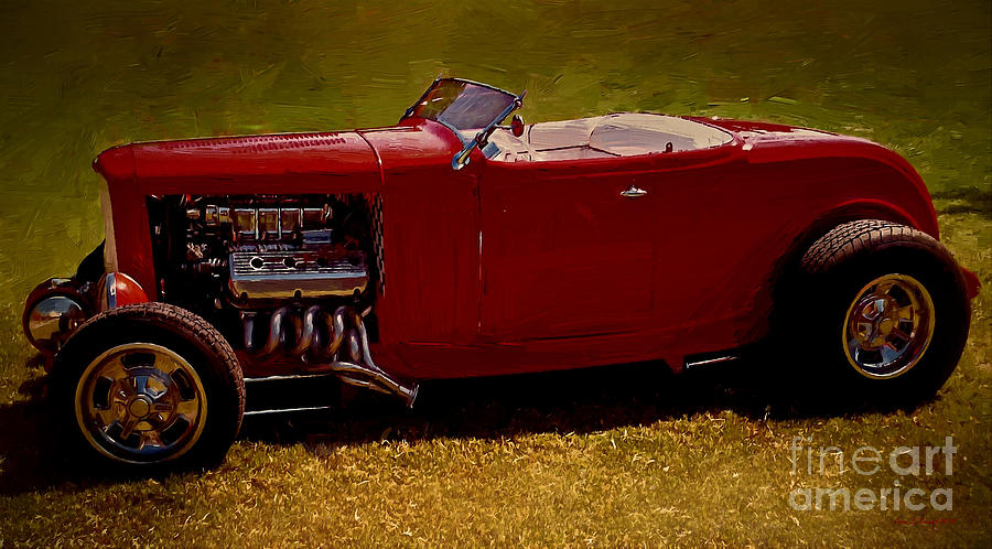 Red 32' Coupe by Jerry L Barrett