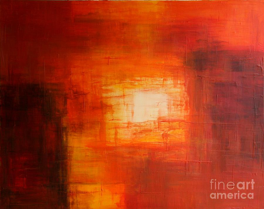 Abstract Art Red