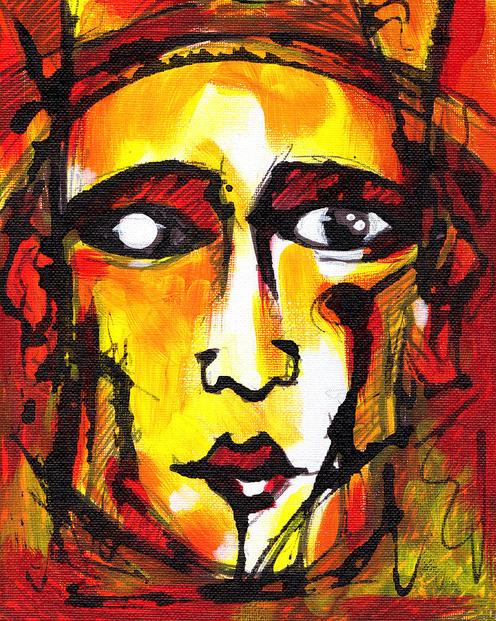 abstract faces painting