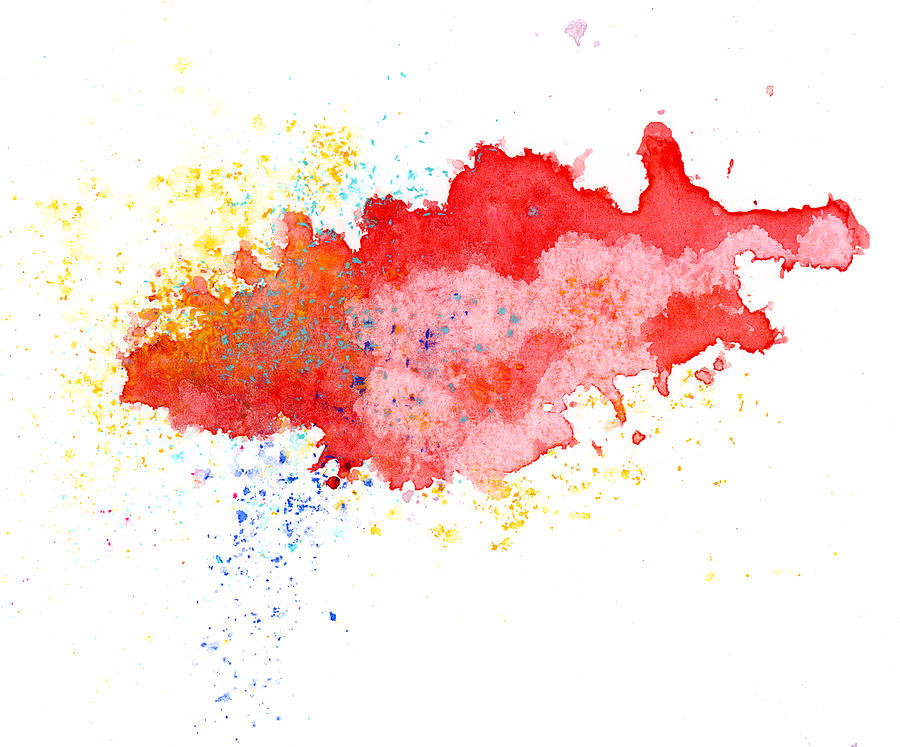 Red Abstract Painted Splash Photograph by Alenchi