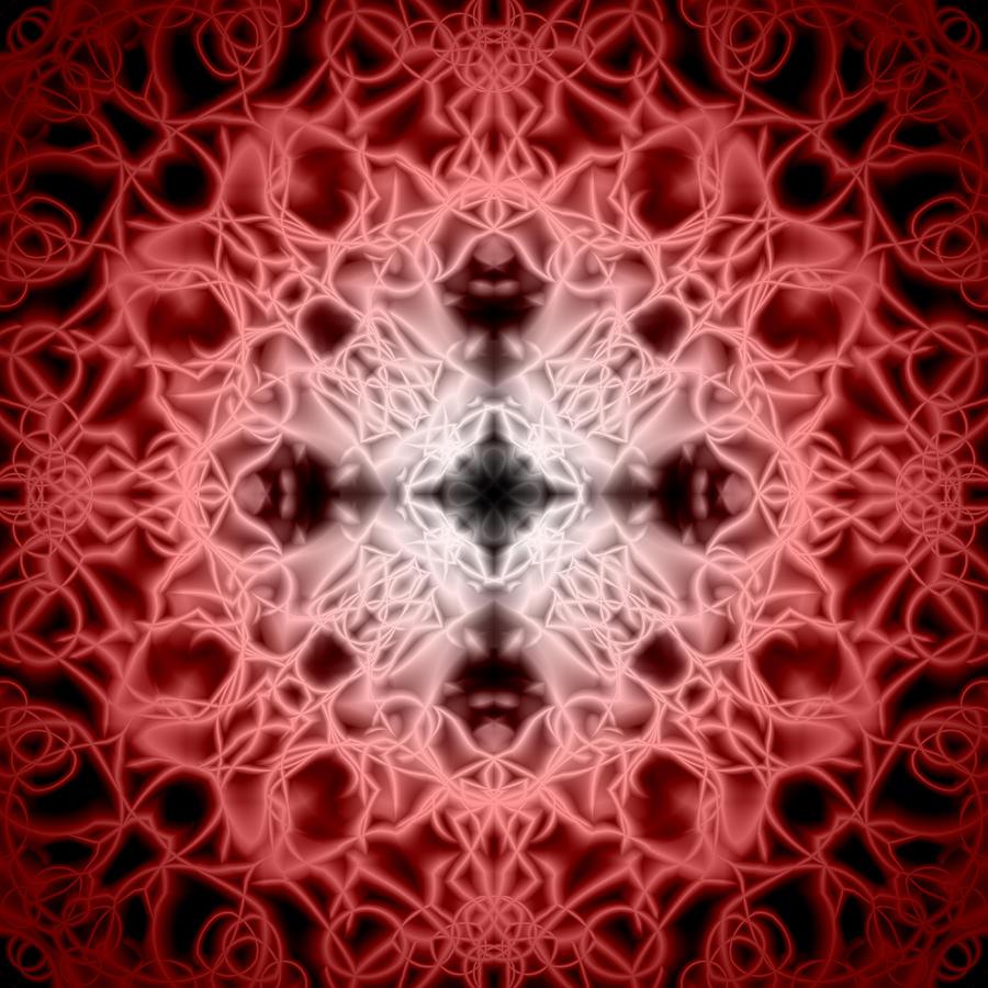 Abstract Digital Art - Red by Adam Romanowicz