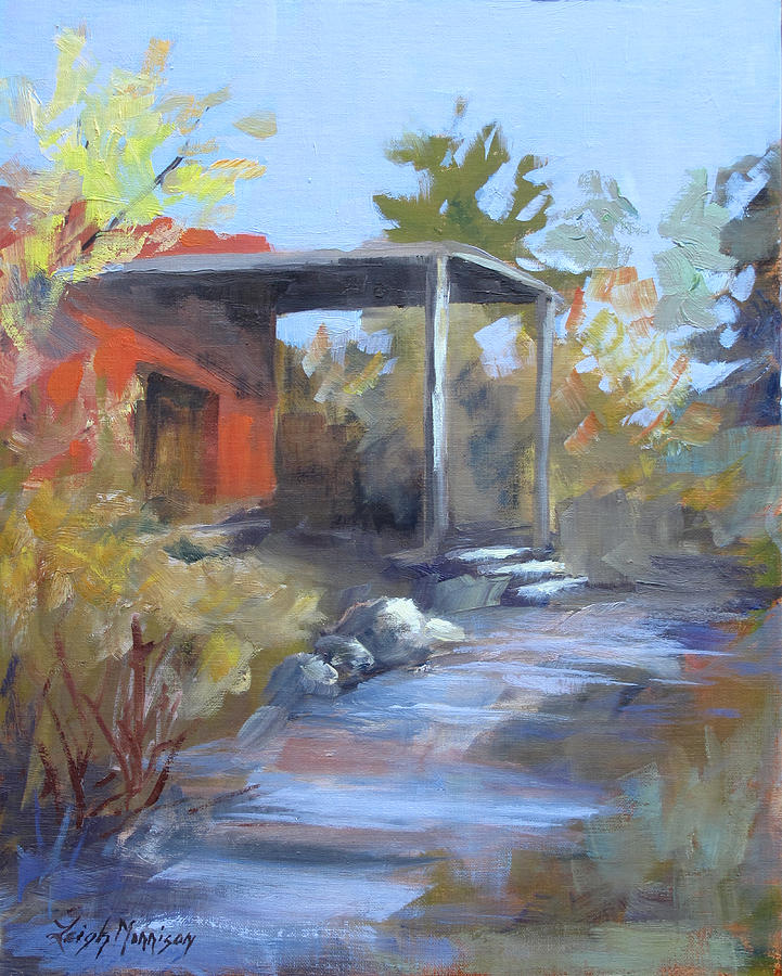 Adobe Painting - Red Adobe by Leigh Morrison