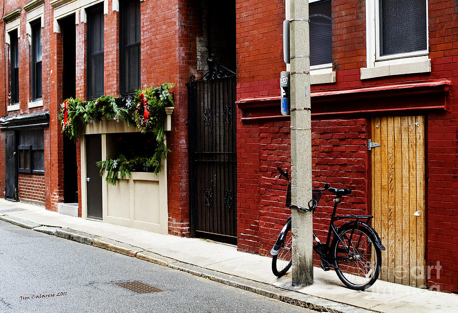 Bicycle Photograph - Red And Black by Jim  Calarese