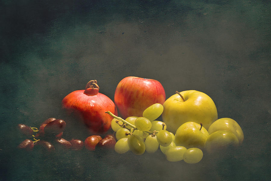 Pomegranates Photograph - Red And Green Fruit by Levin Rodriguez
