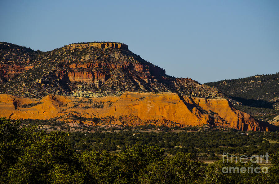 New Mexico Photograph - Red And Green Plateau New Mexico by Deborah Smolinske