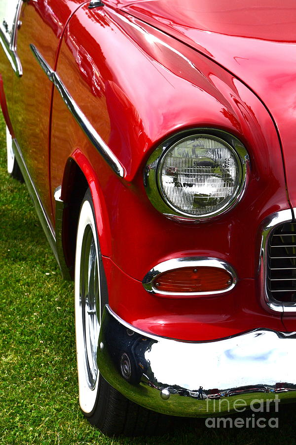 Red And White 50s Chevy Photograph by Dean Ferreira