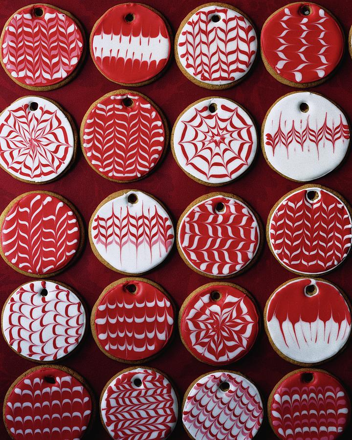 Red And White Christmas Cookies By Romulo Yanes