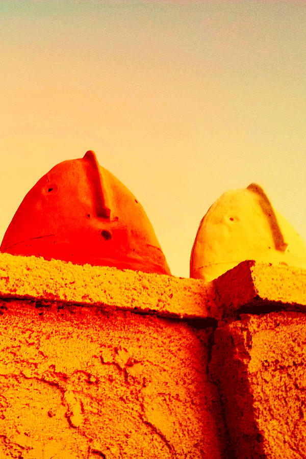 Sculptures Photograph - Red And Yellow Vigils  by Mark M  Mellon