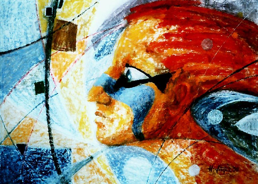 Anguish Painting - Red  Anguish by Hartmut Jager