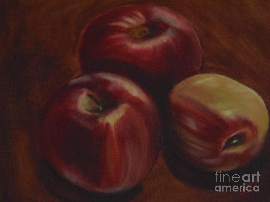 Fruits Painting - Red Apples by Isabel Honkonen