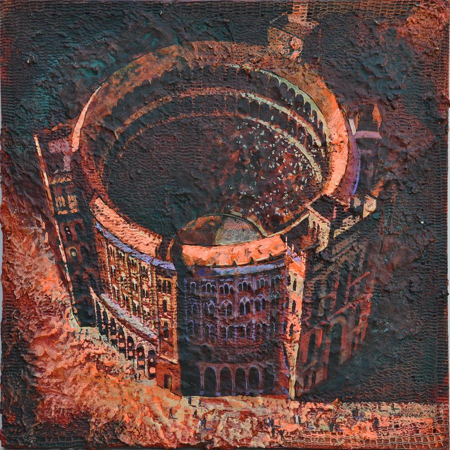Arena Painting - Red Arena by Mark Howard Jones