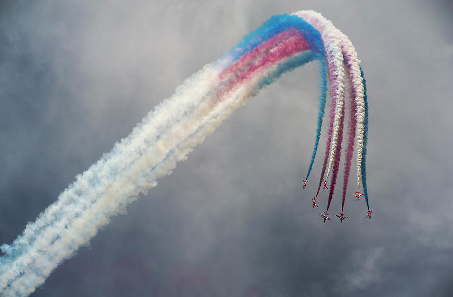 Action Photograph - Red Arrows by