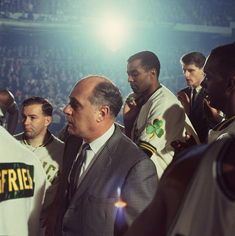 Classic Photograph - Red Auerbach Boston Celtics Legend by Retro Images Archive