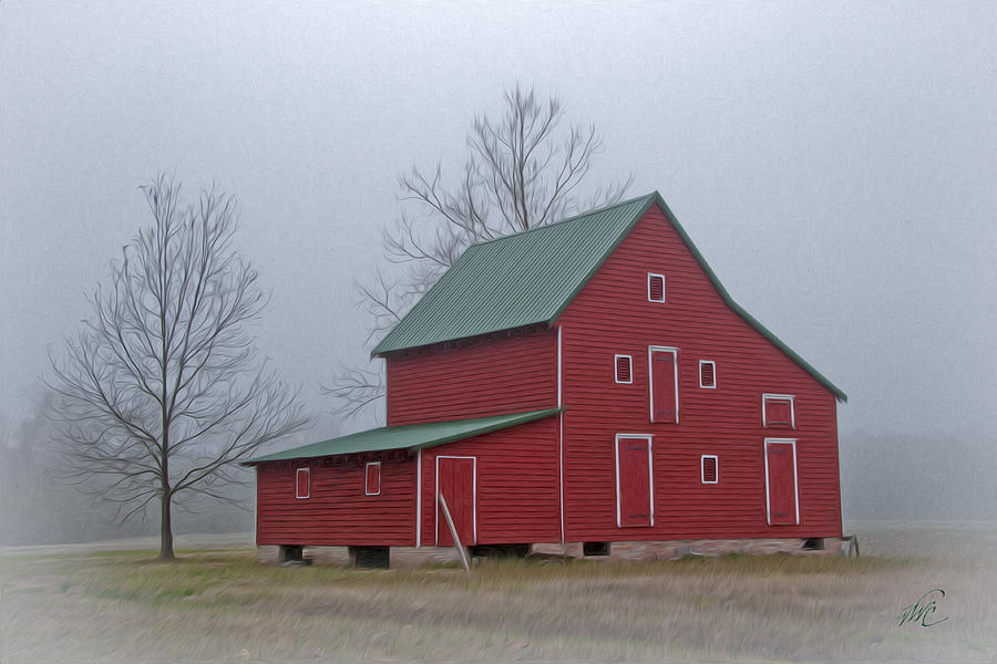 Ware Neck Photograph - Red Barn At Ware Neck by Williams-Cairns Photography LLC