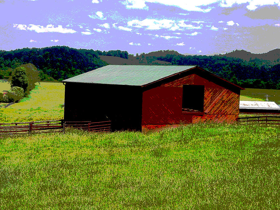 Barn Photograph - Red Barn Farm by Robert J Andler