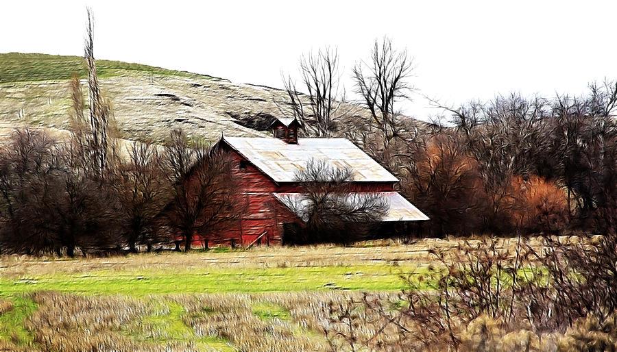 Cabin Photograph - Red Barn by Steve McKinzie