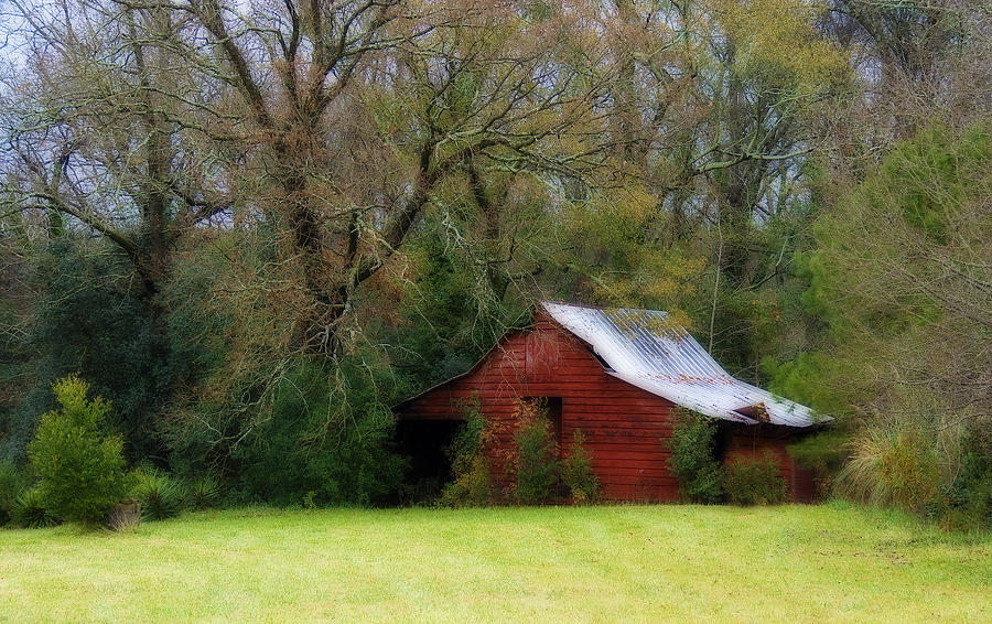 Red Barn Photograph - Red Barn by Steven Richardson
