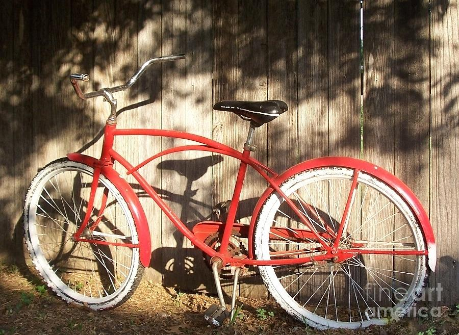 Red Painting - Red Bike by Susan Williams