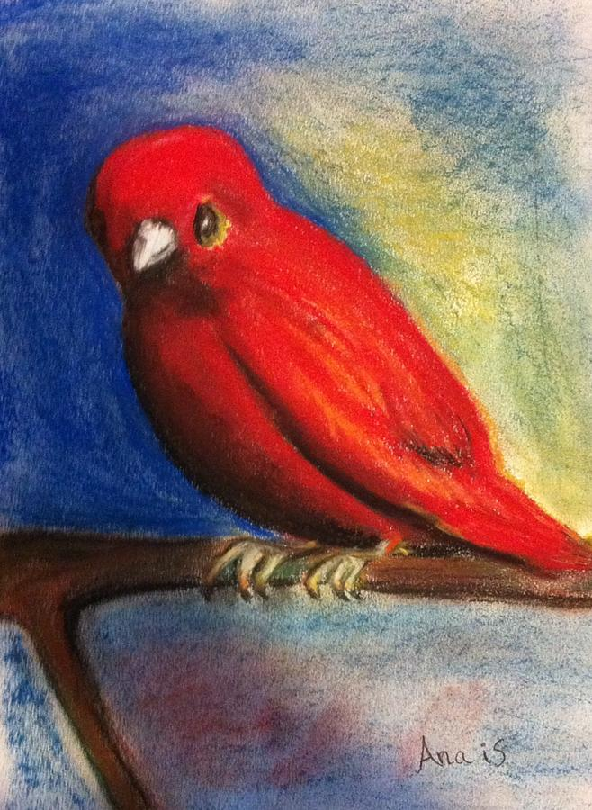 Red Bird Painting by Anais DelaVega