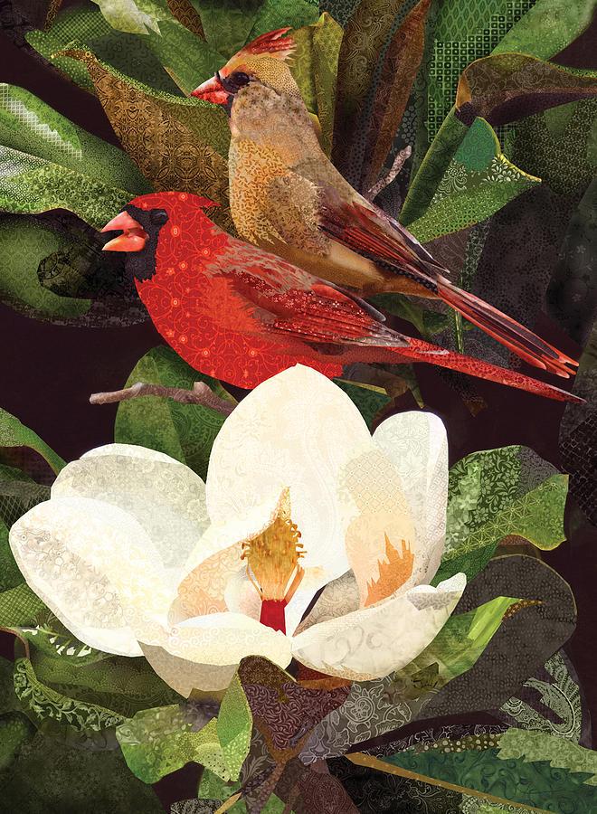 Red Birds in Magnolia by Robin Morgan