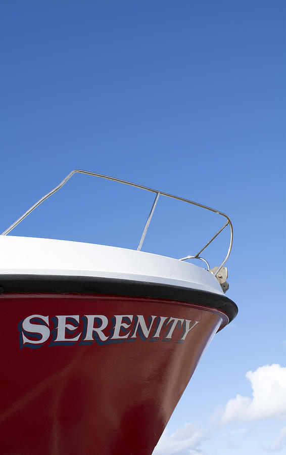 Red Photograph - Red Boat Serenity 2 by Michelle Bailey