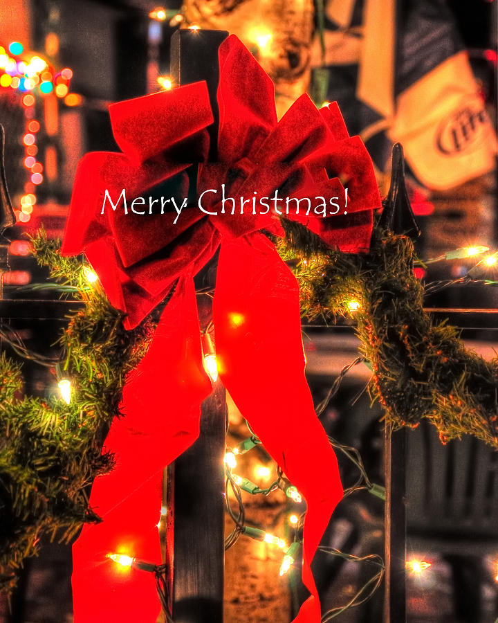 Red Bow Christmas 8950 Photograph