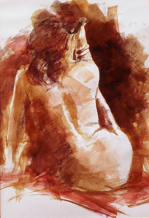 John Svenson Painting - Red Bracelet by John  Svenson