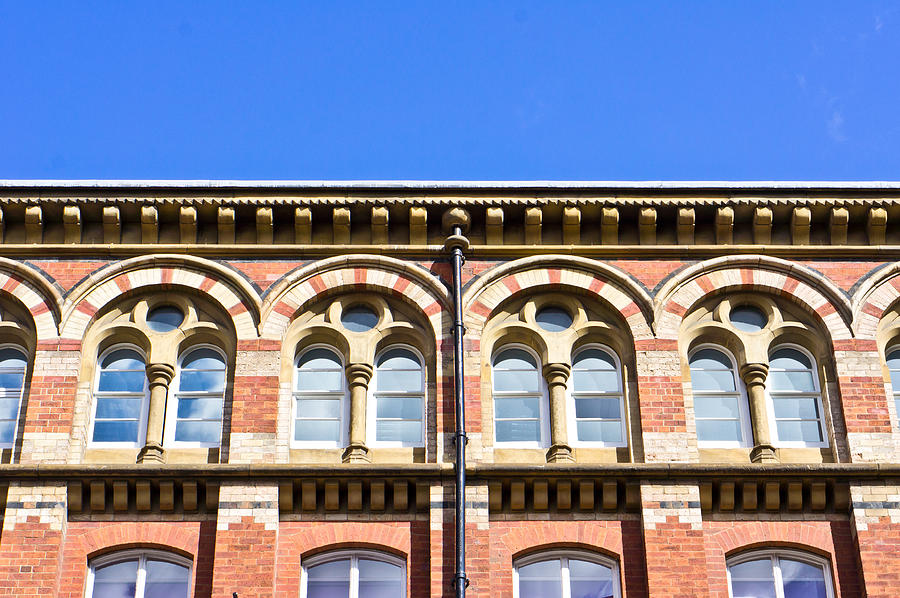 Apartment Photograph - Red Brick Building  by Tom Gowanlock