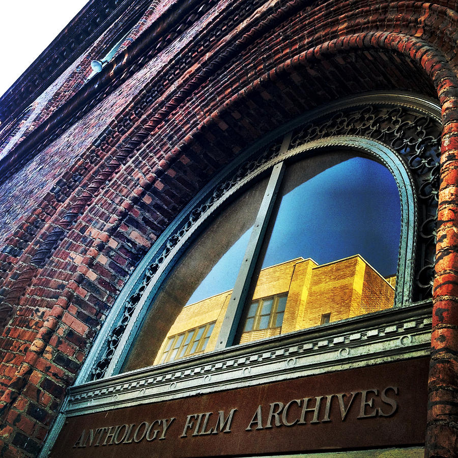 Anthology Film Archives Photograph - Red Brick Reflection by Natasha Marco