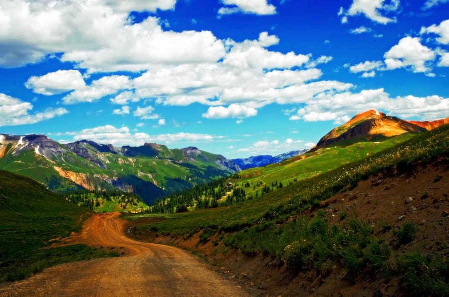 Red Mountain Photograph - Red Brick Road by Cheryl Cencich