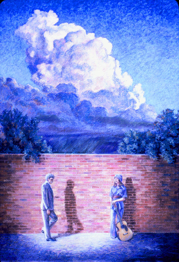 Brick Painting - Red Brick Wall by Dan Terry