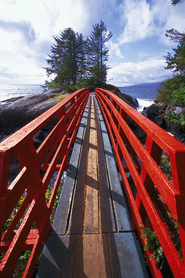 Red Photograph - Red Bridge To Nowhere by Kim Lessel