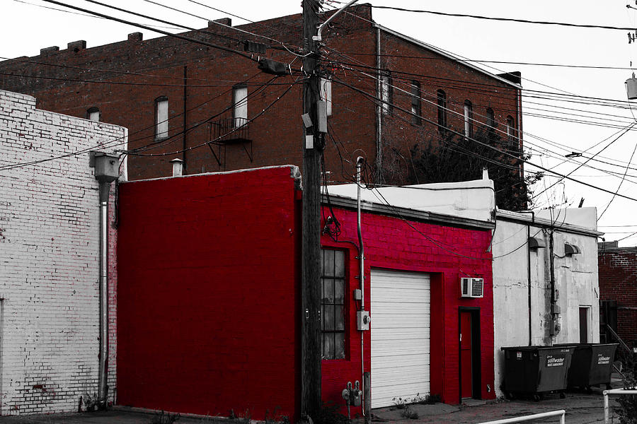 Building Photograph - Red Building by Nathan Hillis