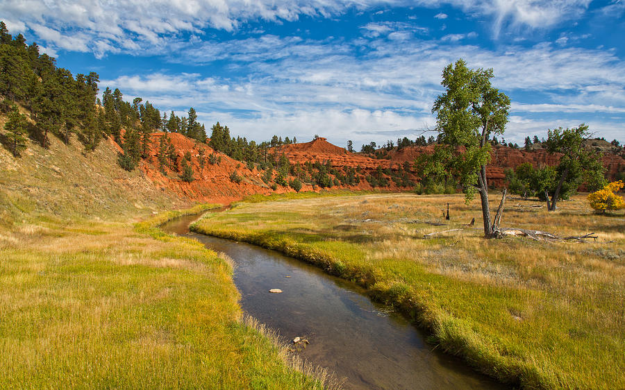 Red Buttes and the River by John M Bailey