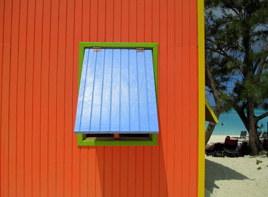 Caribbean Corner Photograph - Red Cabin by Randall Weidner