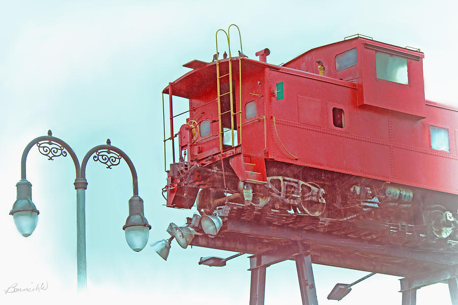 Red Caboose In The Sky2 Photograph by Bonnie Willis