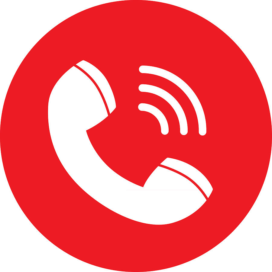 Red Call Icon Drawing by RobinOlimb