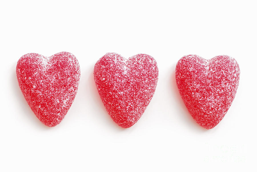 Heart Photograph - Red Candy Hearts by Elena Elisseeva