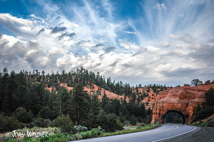 Red Canyon Photograph - Red Canyon Tunnel by Joan Wallner