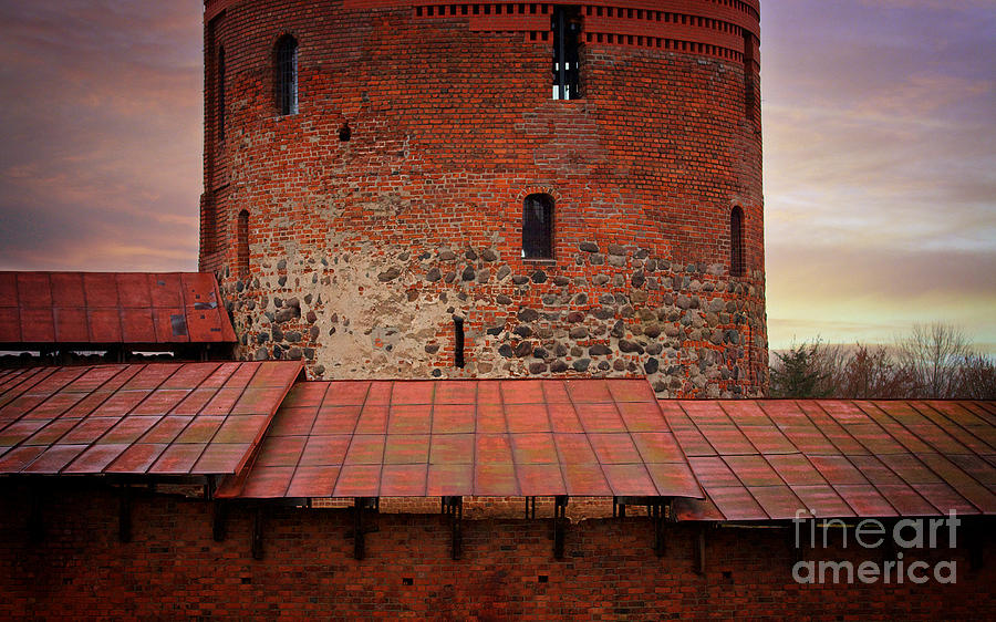 Historical Monument Photograph - Red Castle Walls by Jolanta Meskauskiene