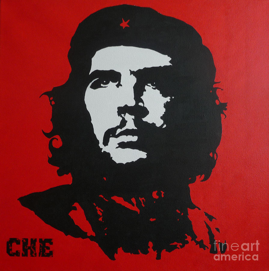 Che Guevara Painting - Red Che by ID Goodall