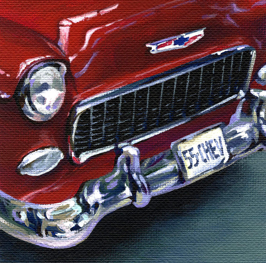 Chevrolet Painting - Red Chevy by Natasha Denger