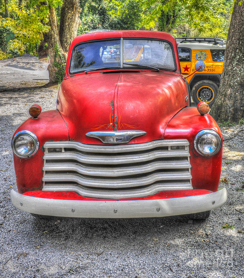 Red Chevy Truck Photograph
