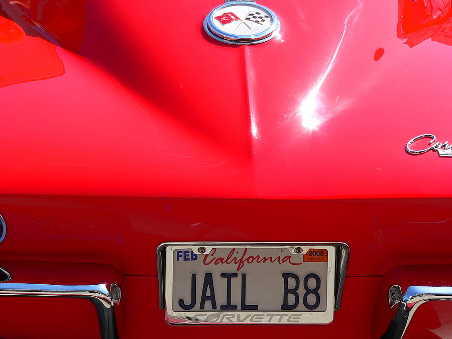 Red Classic Corvette Jail Bait by Jeff Lowe