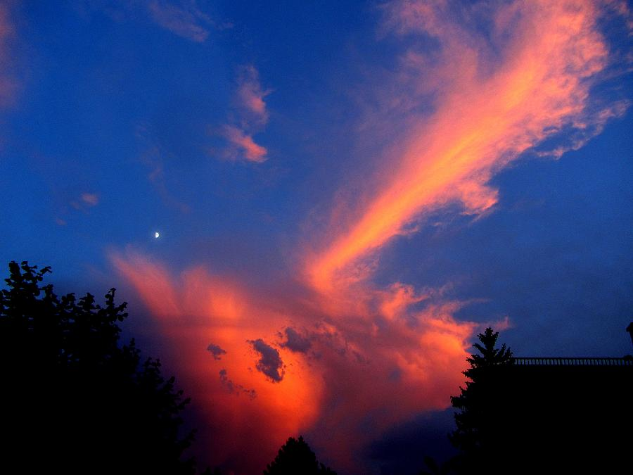 Clouds Photograph - Red Clouds In The Evening by Helmut Rottler
