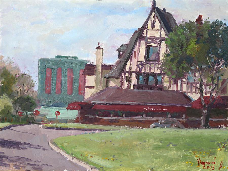 Red Coach Inn Painting - Red Coach Inn-restaurant by Ylli Haruni