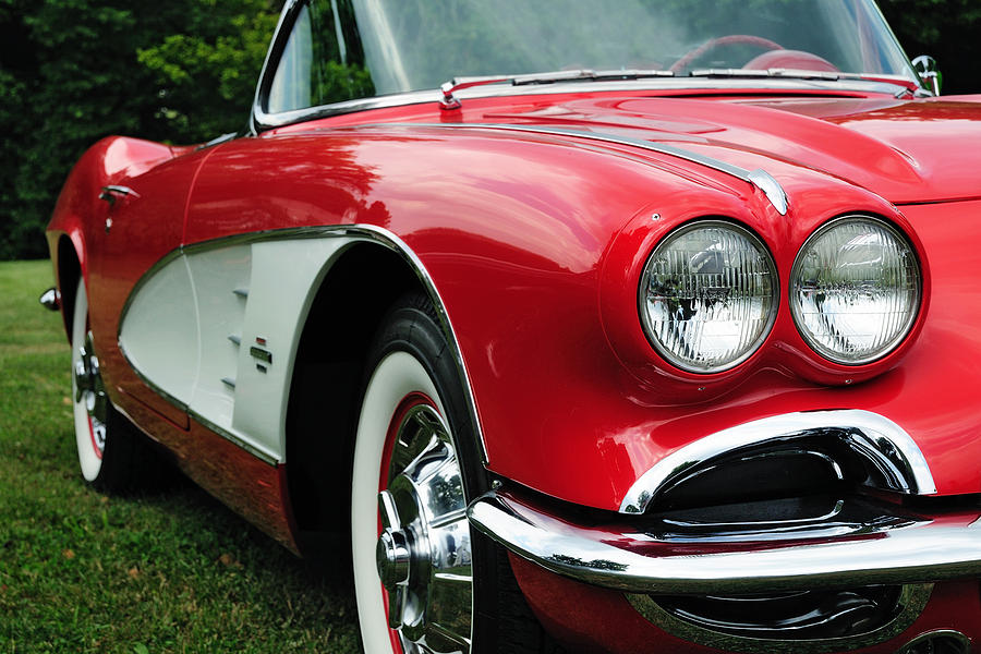 Corvette Photograph - Red Corvette by John Kiss
