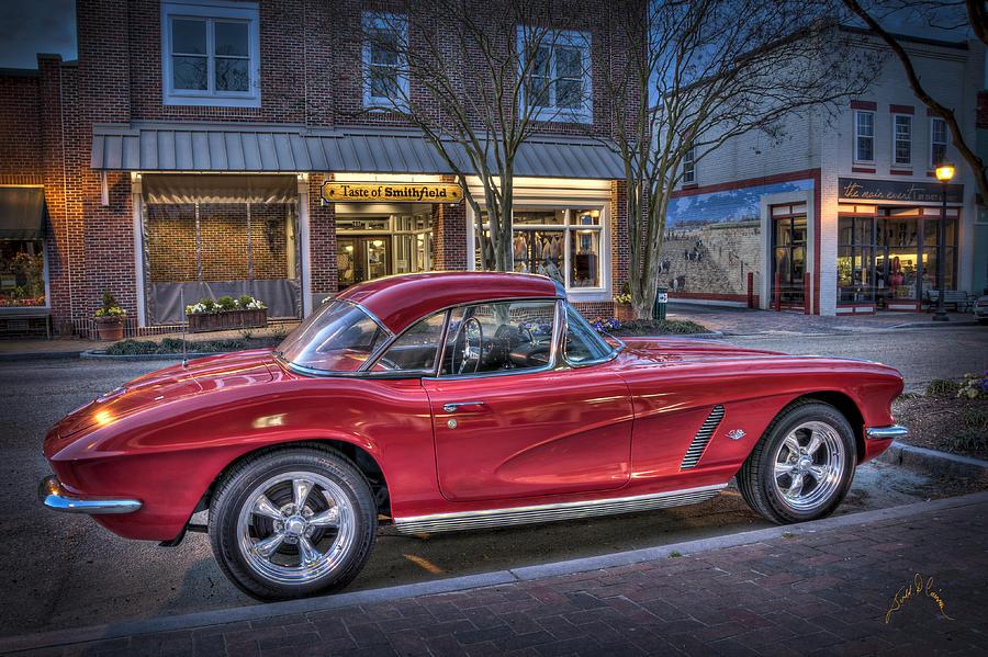 Corvette Photograph - Red Corvette by Williams-Cairns Photography LLC